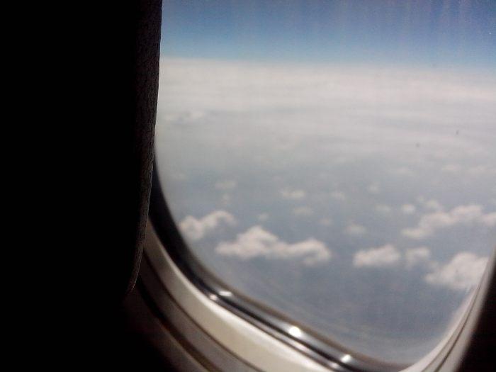 Wij hadden een ontzettend mooi uitzicht tijdens de vlucht