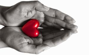 2 handen om een hart