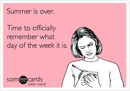 zomer is over