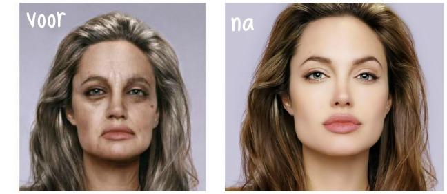 Voor en na het gebruik van Aussie haarproducten ;)