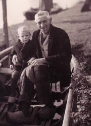 Weiland - Gerrit Willem Bruggeman met kleinzoon Evert Brinkhuis