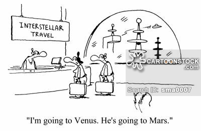 'I'm going to Venus. He's going to Mars.'